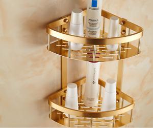 Kitchen Corner Shelf Aluminum Gold Shower Storage Caddy Bath Organizer Holder