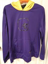AND1 Men's XL Street wear ball Basketball Hoodie, Purple, Yellow, Large