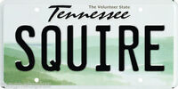 TENNESSEE SQUIRE LICENCE PLATE SMALL BAR FRIDGE MAGNET