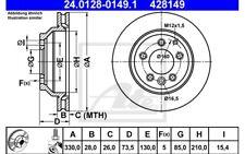 ATE Juego de 2 discos freno 330mm ventilado para VW TOUAREG 24.0128-0149.1