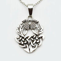 Celtic  Scottish Thistle  Necklace with 18 inch chain