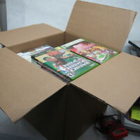 Huge Lot- 60 XBOX/360 Games plus OEM Cases, manuals, cover art - SCRATCHED DISCS