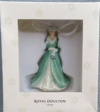 Royal Doulton Lady Silver Bells Christmas Ornament Mint and New in Box