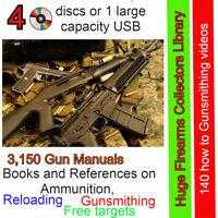 Huge Firearms Collectors Library - 3,150 Gun Manuals, reloading,Gunsmithing