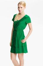 Silk V-Neck Short Sleeve Dresses Mini