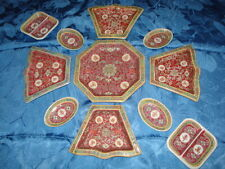 VINTAGE RED CHINESE PORCELAIN SERVING SET 11 PIECES
