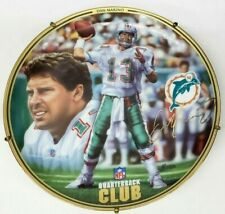 Dan Marino 1996 Quarterback Club Nfl Football Plate with Hanger Miami Dolphins