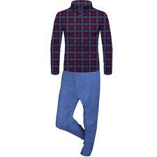 100% Pure Fleece Mens Sleeping Pajama Set Nightwear Pyjama Trouser Shirt (16-18)