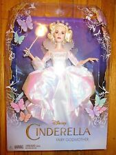"Disney Cinderella FAIRY GODMOTHER Doll 12"" Barbie 2015 Live Action Movie"