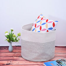Cotton Wire Sundry Basket Home Finishing And Storage Basket US STOCK