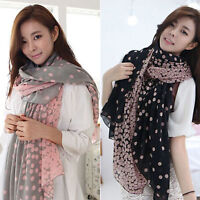 Ladies Winter Wrap Shawl Polka Dot Printing  Long Scarf Cape Scarves Stole Soft