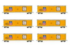 Rivarossi Union Pacific Plug Door Box Car HO Scale Train Car - Set Of 6 Cars