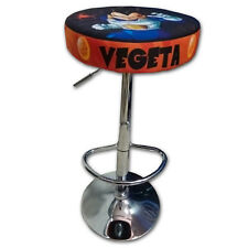 TABURETE ARCADE VEGETA ACERO CROMADO REGULABLE ACOLCHADO RECREATIVA BARTOP