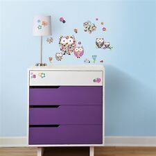 Prisma Eulen & Schmetterlinge iWandtatoos wiederverwendbar Kinder RoomMates 1328