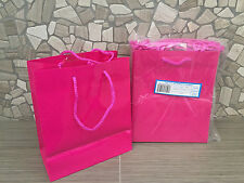 Glossy Magenta Pink Gift Bags With String Great Quality 24ct