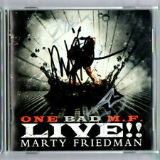 SIGNED IN PERSON MARTY FRIEDMAN ONE BAD M.F. LIVE!! CD WITH  GUITAR PICK