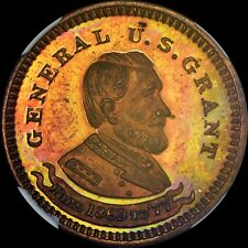 FINEST @ PCGS & NGC MS65 RED 1877 NEW YORK 395B I.F. WOOD, GENERAL U.S. GRANT
