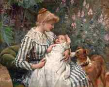 A Gentle Reminder by Frederick Morgan Art Mother Baby Child Dog 8x10 Print 0842