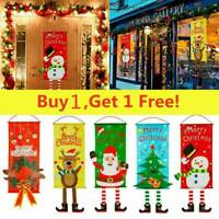 Christmas Decorations Ornaments Santa Banner Flag Door Window Hanging Decoration