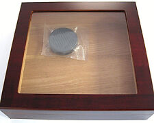 NEW DESKTOP HUMIDOR 20 CIGAR W/ HUMIDIFIER ELEGANT CHERRY GLASSTOP FREE S/H