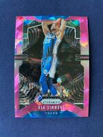 Ben Simmons 2019-20 Panini Prizm Cracked Pink Ice #198 Philadelphia 76ers NBA