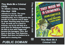 They Made Me A Criminal DVD DISC ONLY {YOU CHOOSE SHIPPING}