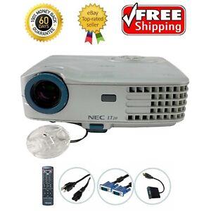 NEC MultiSync LT20 DLP Projector Portable HD 1080i HDMI-adapter Remote TeKswamp