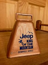 Jeep King of the Mountain Downhill Series ski skiing cowbell copper cow bell KOM