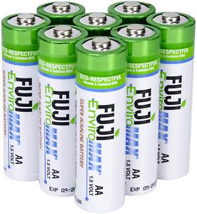 Fuji Enviromax Super Alkaline AA Batteries - Eco-Friendly, Long Lasting, Powerfu