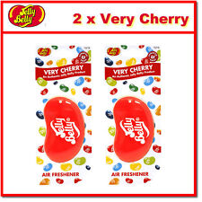 2 x Jelly Belly 3D Bean Hanging Car Air Freshener - Very Cherry Scent