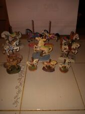 Lot Of 14 Antique Carousel Horses