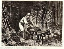 Colombia Antique print colombian kitchen 1880 holzstich Kolumbien