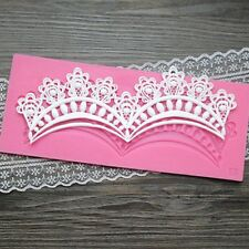 Lace Double Swag Silicone Mold Sugar Craft Fondant Cake Decorating Baking Pad