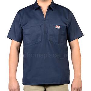 Ben Davis Short Sleeve Shirts Men POCKETS Stripe, Plaid, Color half zipper shirt