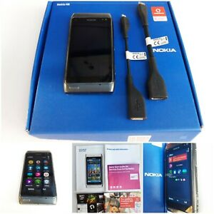 NOKIA N8-00 16GB Mobile Phone - VODAFONE. BOXED. Carl Zeiss 12MP Camera, HDMI...