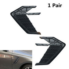 New listing 3D Glossy Carbon Fiber Look Car Side Wing Air Flow Fender Grill Intake Vent Trim(Fits: Golf)