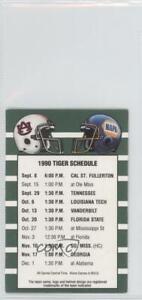 1990 Football Schedules Auburn Tigers Team
