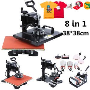 8 in1 Presse à Chaud 8 en 1 Transfer Presse à Textile Imprimé Impression 38X38CM
