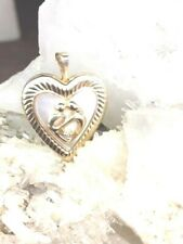 Mother Of Pearl Diamond antique penda solid Gold Locket Pendant Mother And Child