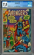 Avengers #92 CGC 7.5 Captain Marvel app Neal Adams Sal Buscema