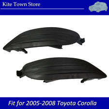 Pair of Fog Light Lamp Bumper Cover Insert RH LH for Toyota Corolla 05 06 07 08