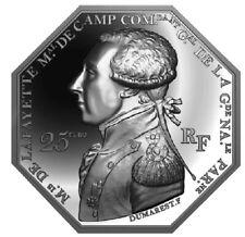 25 euro France 2020 argent BE - Général La Fayette / Marquis / Arrivée à Boston