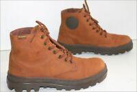 PALLADIUM  Bottines Boots Homme Cuir Marron Clair UK 7 / US 8 / 41 FR  TBE
