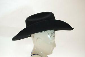 Twister Junior Cowboy Hat By M&F Hats No. T7234001-L, Youth L, Black 100% Wool
