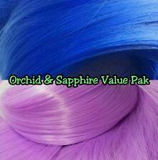 Orchid Purple & Blue XL 2 Color Value Pack Nylon Doll Hair Reroot Barbie Crissy