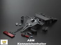 ABM Kennzeichenhalter KAWASAKI ZX-10 R  1000ccm Typ: ZXT00C  Bj. 04-05 Hinterrad