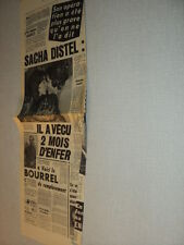 G070 SACHA DISTEL BOURVIL '1973 FRENCH CLIPPING