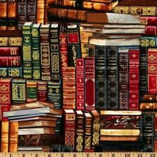 Fat Quarter Library Packed Books 100 Cotton Quilting Fabric Timeless Treasures