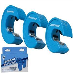 Silverline Quick Cut Pipe Cutter - Set 3 pce 15, 22 & 28mm - 675292