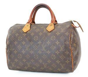 Authentic LOUIS VUITTON Speedy 30 Monogram Boston Handbag Purse #39591